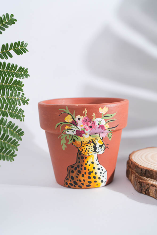 Victoria Blooming Leopard Planter